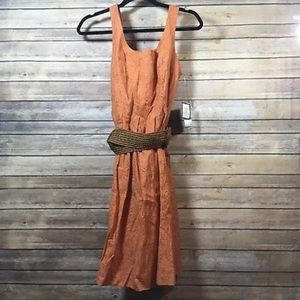 Nine West Dress Canyon Fit & Flare Belted Size 12